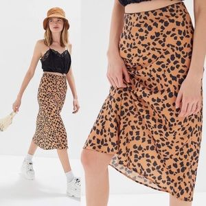 Urban Outfitters Rowan Slip Skirt